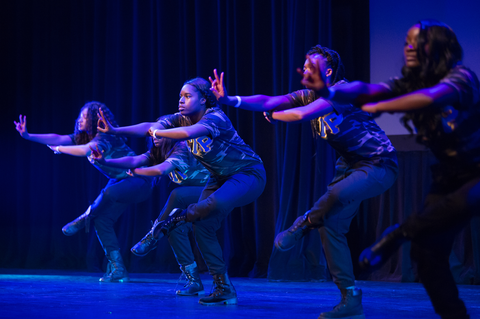 The National Pan-Hellenic Council Step Show at Jesse Auditorium. Photo by Sam O'Keefe/University of Missouri
