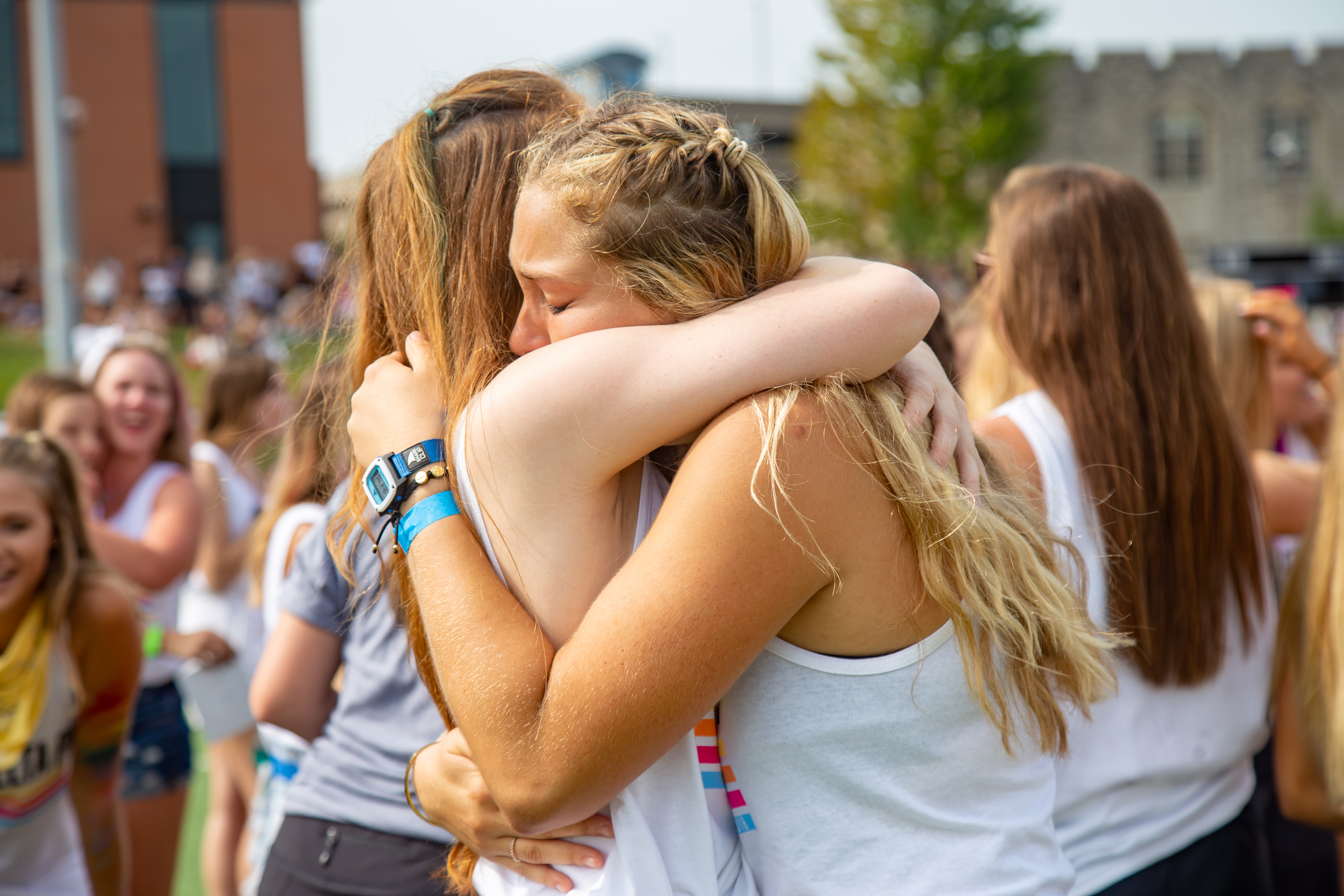Panhellenic Association's Sorority Bid Day at Stankowski Field on Aug. 18, 2018. Photo by Cassandra Florido