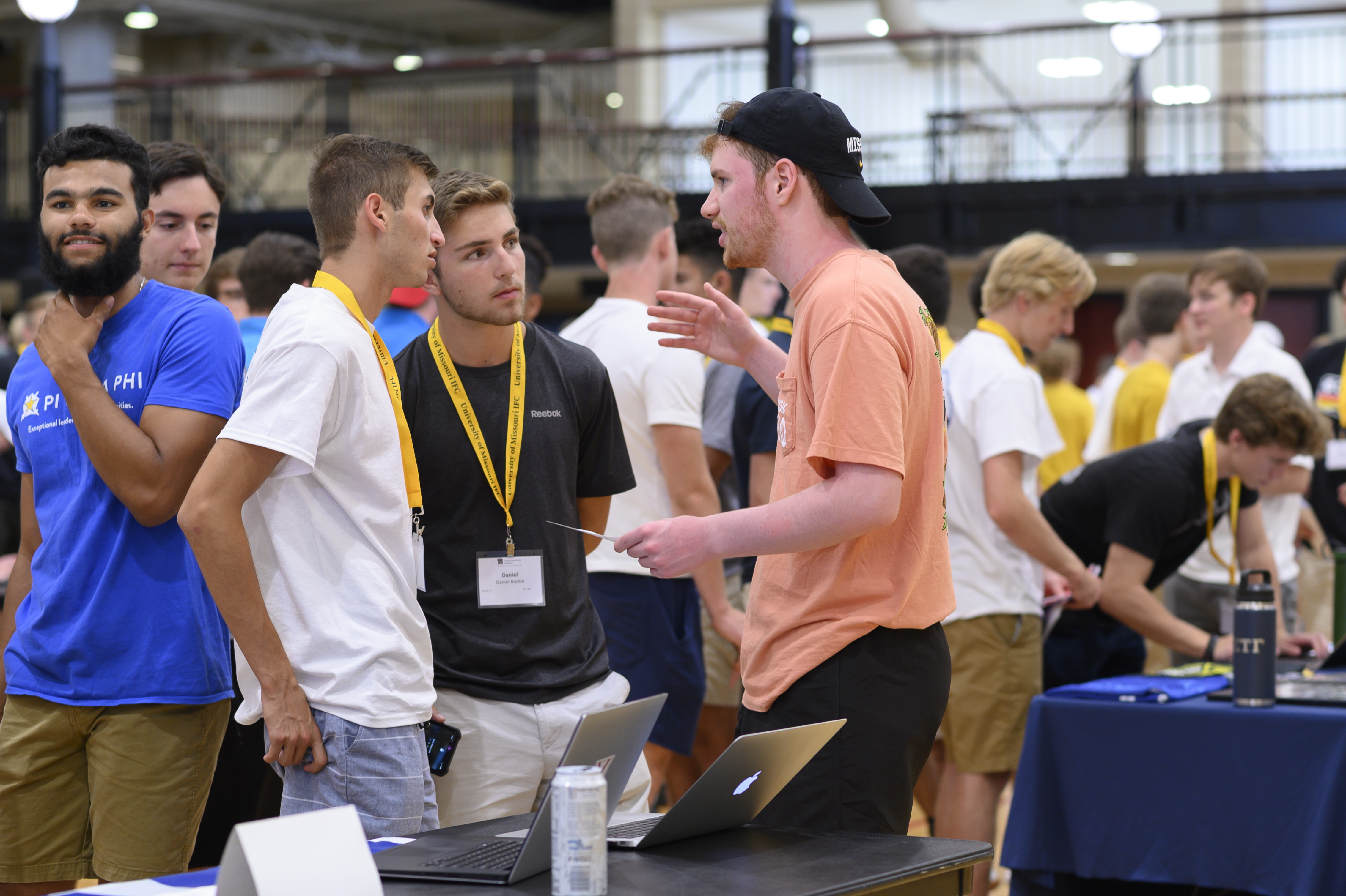 Interfraternity Council recruiting at the MizzouRec on Wednesday Aug. 14, 2019. Sam O'Keefe/University of Missouri