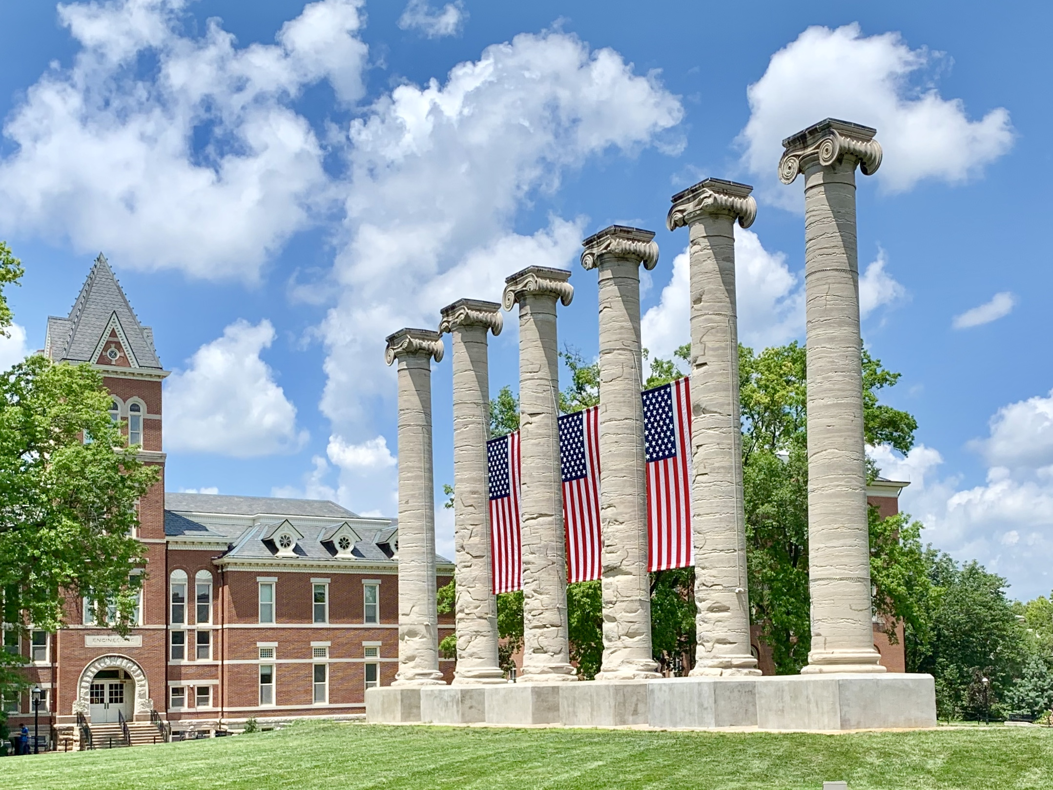 Flags on the Quad