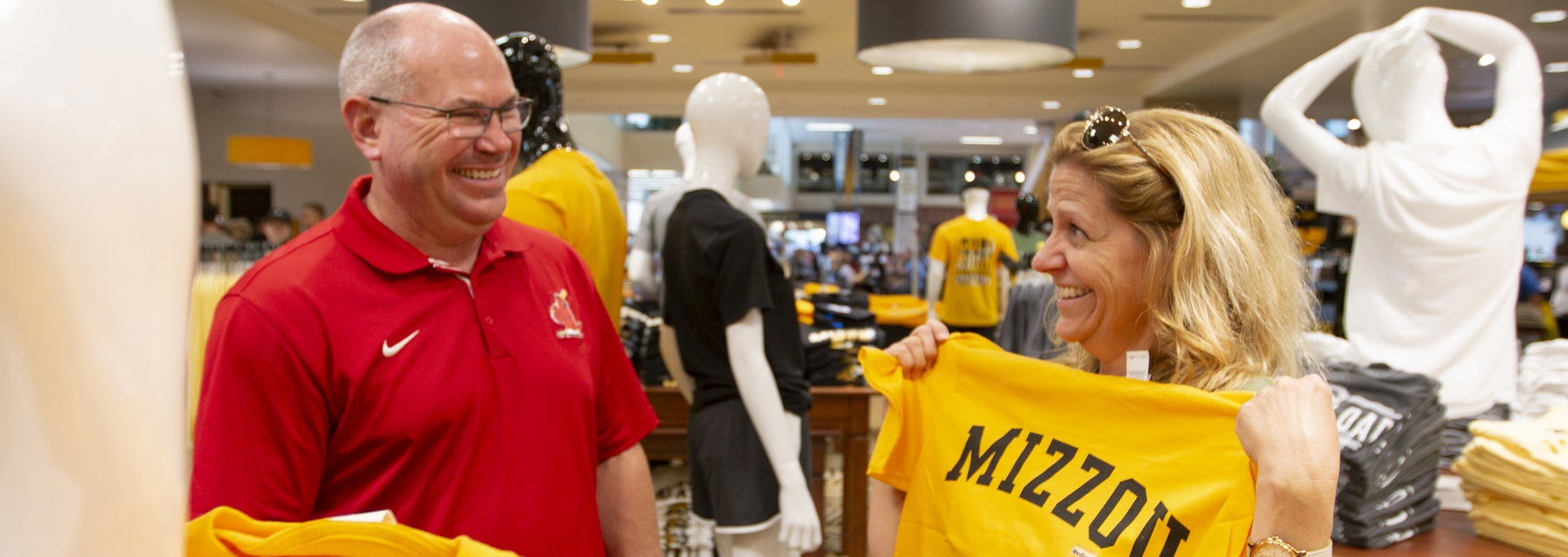 Parents shopping at The Mizzou Store.